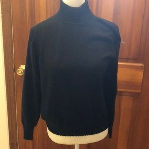 Dress barn woman's black turtle neck sweater small